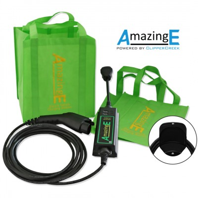 AmazingE, Level 2, 240V, 16 Amp EV Charging Station with Cable Wrap Bundle