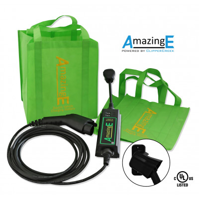AmazingE Level 2, 16 Amp EV Charging station with NEMA 14-30 plug, J1772 Connector Holster Bundle