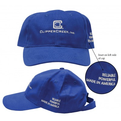 ClipperCreek Embroidered Logo Baseball Cap