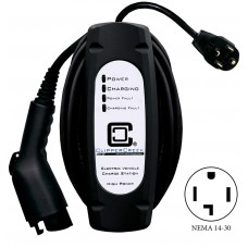 LCS-20P, Plug-in 16 Amp EVSE, 25' charging cable with NEMA 14-30  plug