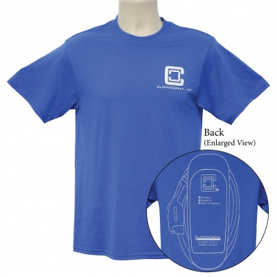 ClipperCreek T-Shirt, Adult, Short-Sleeve, Blue