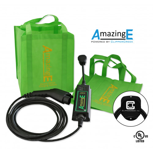 AmazingE Level 2, 16 Amp EV Charging station with NEMA 14-30 plug, Cable Wrap Bundle