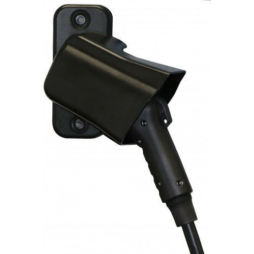 SAE J1772 EV Charging Station Connector Holster, Wall Mount
