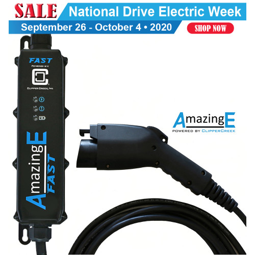 AmazingE FAST Level 2, 32 Amp EV Charging station, Hardwired